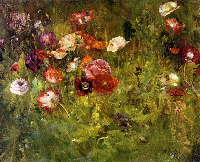 A Bed of Poppies, 1909
