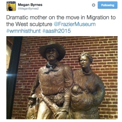 Megan Brynes, museum educator, found this fierce mother and her family making their way out West.