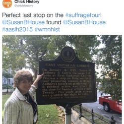 And you can even find yourself! Deborah L. Hughes, President/CEO of the Susan B. Anthony House & Museum found....Susan B. Anthony.